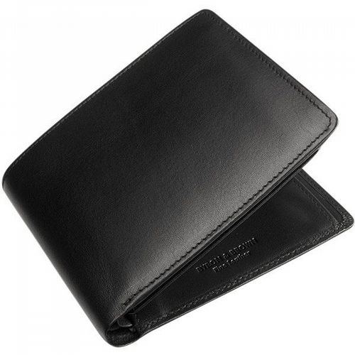 Leather Wallet - 9 Cards & Coin Pockets - Black